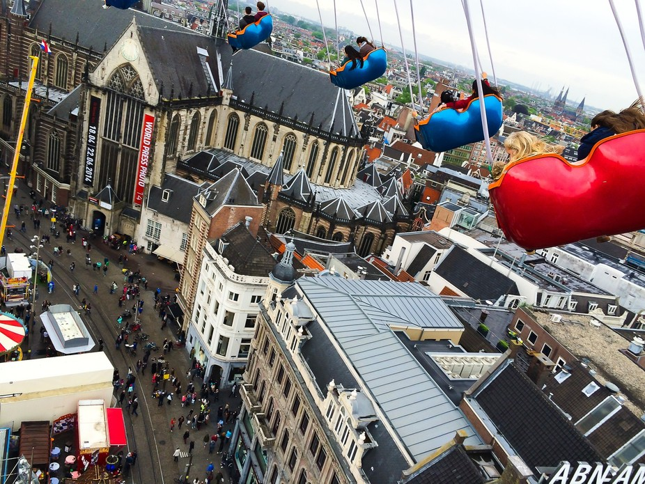 Every April in Amsterdam they celebrate the Kings birthday with a huge fair in front of the castl...