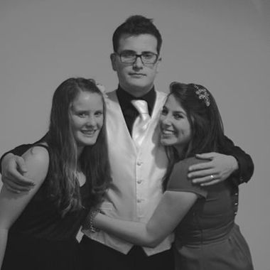 Groom and sisters