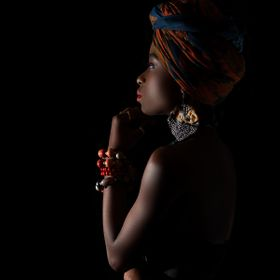 Mattu Grace: African Native beauty   (Edited version, chin shadow)