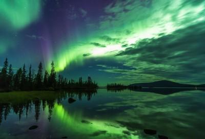 Northern lights above Jerisjärvi