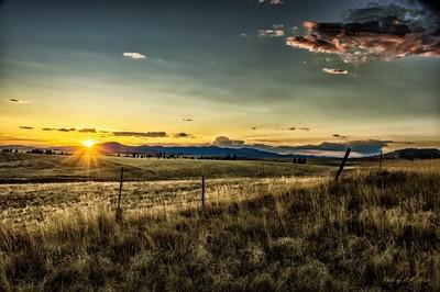 Eastern Washington Landscape with Sunset