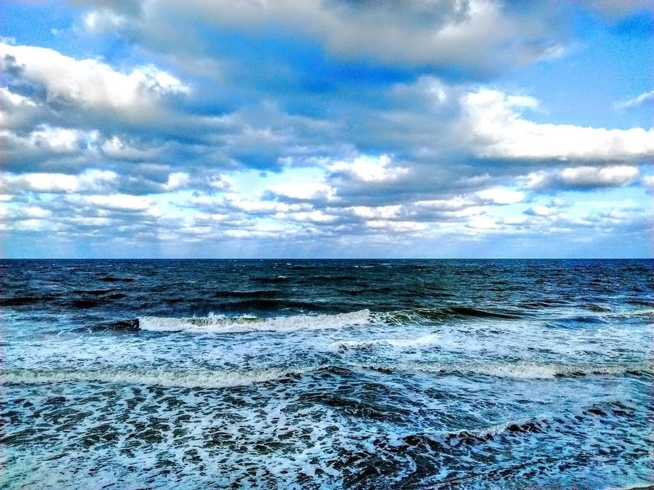 Rough dark sea