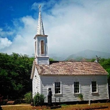 One of 4 Catholic churches built by Father Damien, the Belgian priest who ministered to the residents of Molokai, Hawaii's leper colony.