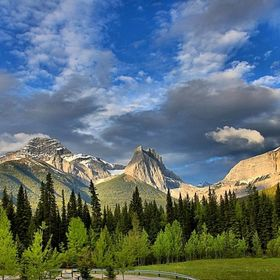 Just off the highway before Banff National Park, you can pull off and get some great views.