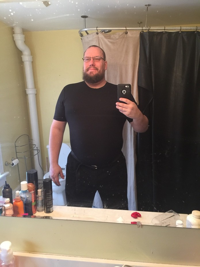 Starting to feel comfortable in my skin. Wearing less baggy clothing.  50lbs down.  Not there. Bu...