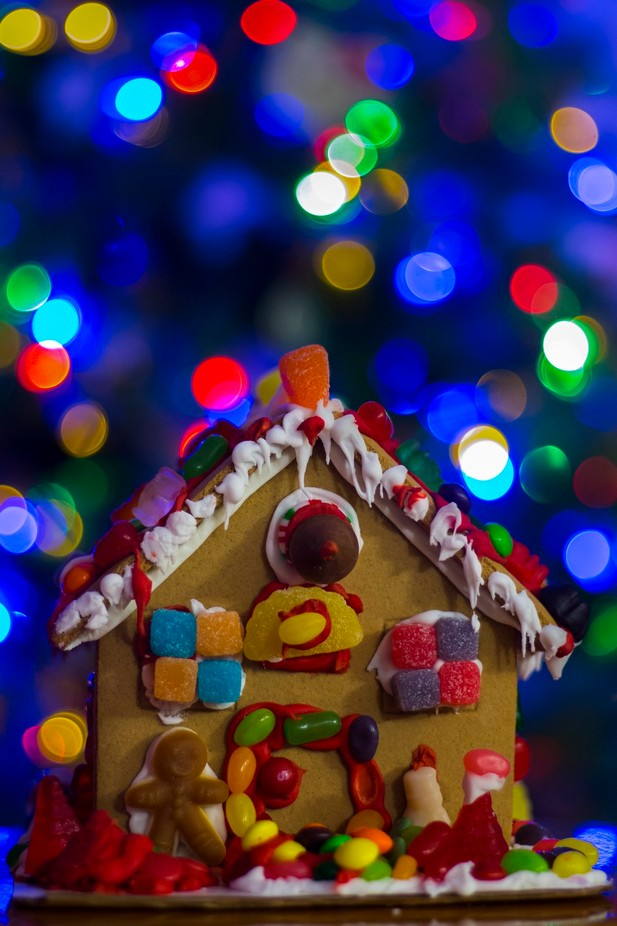 Gingerbread House by astewart - Holiday Lights Photo Contest 2017