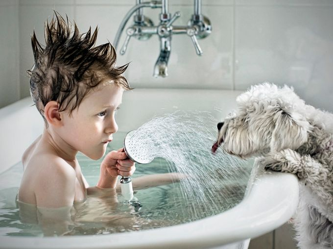 Shower Time by Belloui - Happy Moments Photo Contest