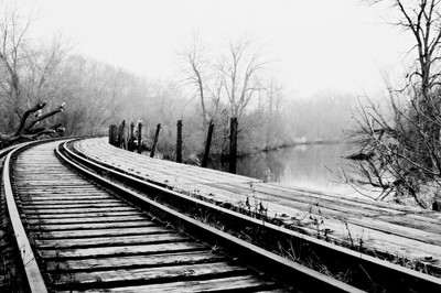 Abandoned Tracks At The Fox River Sanctuary