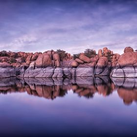 We waited till the sun went down in Watson Lake, Arizona and all of a sudden the sky came alive within this cluster of beautiful rock formations....