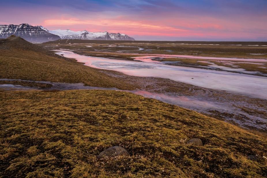 Decline near the Ice lagoon, Iceland