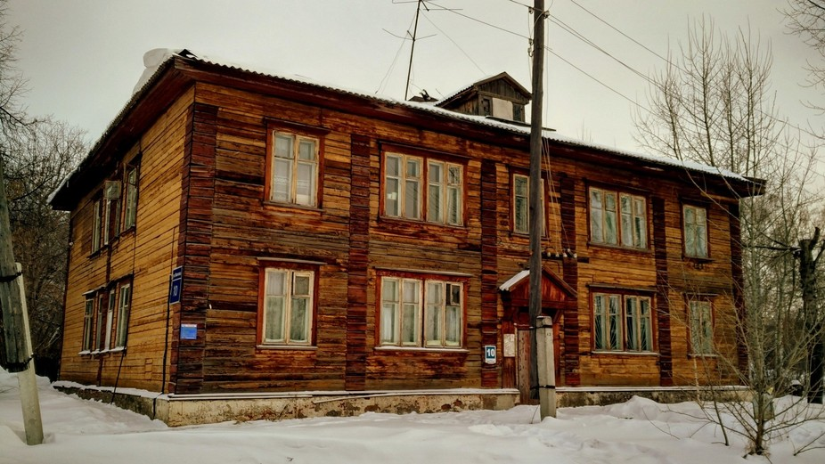 A 60 years old wooden house in Novosibirsk, Russia.