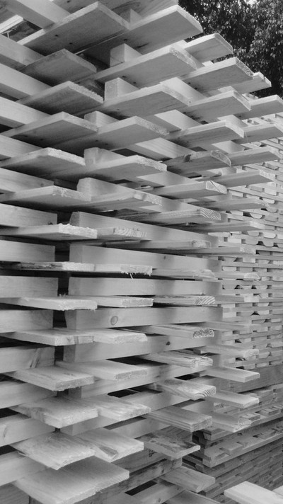 Pallets in black and white