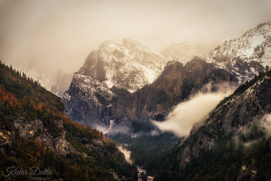 Driving up to Yosemite through the snow on Highway 120, I saw this outside my Jeep window. The vi...