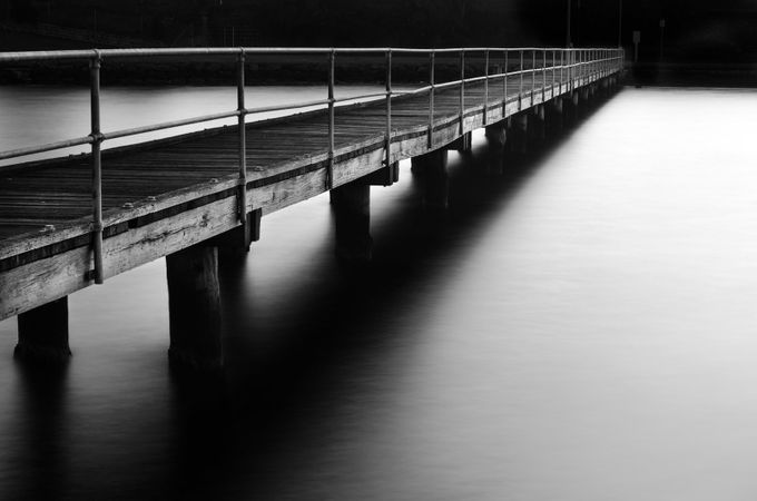 The jetty into the darkness by Mick-Kupresanin - Black And White Wow Factor Photo Contest