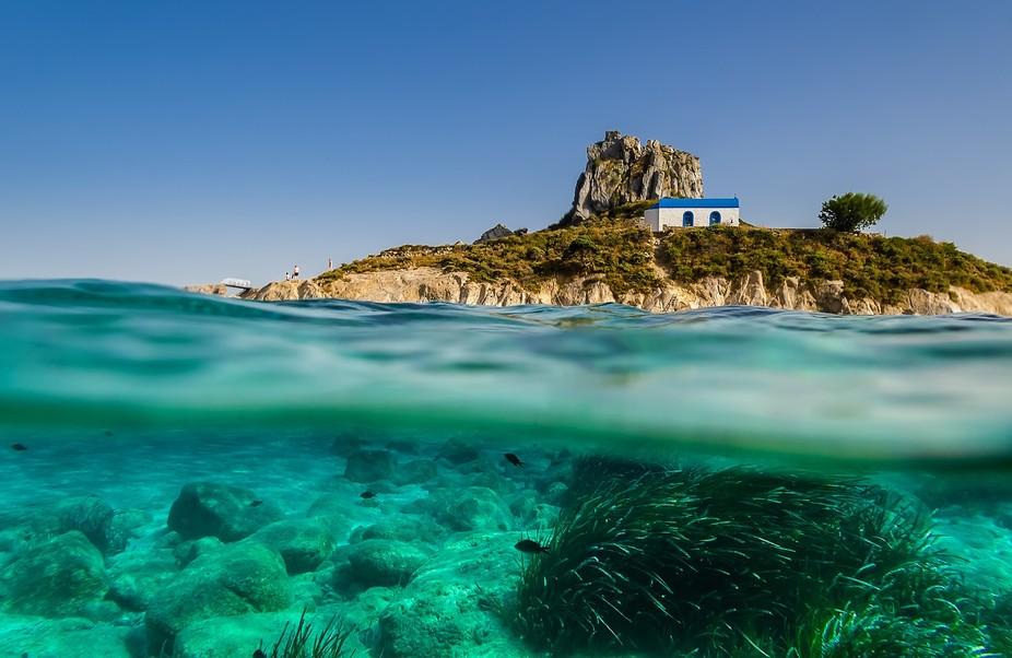 Underwater shot in Kos island Greece