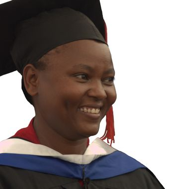Ann graduating university in Kenya