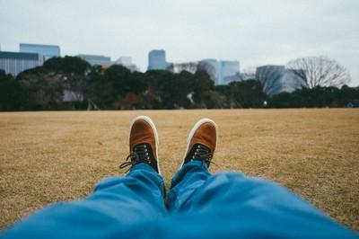lazing in imperial garden