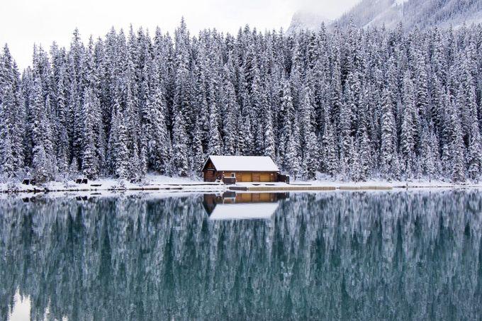 Snowy cabin by swashbucklin - Canada Photo Contest