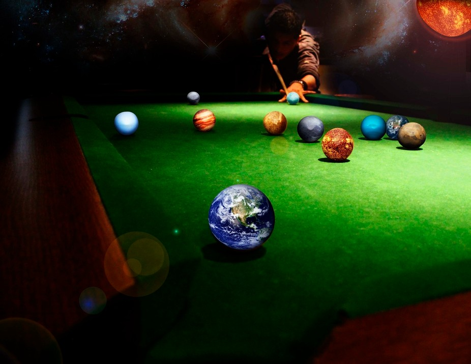 Inspired by a request by a friend to turn a shot of him playing pool into him playing with the pl...