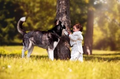 Best Friends - Dog and Children