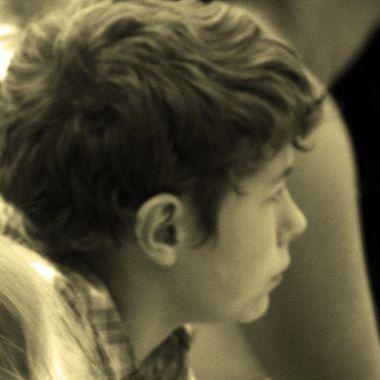 dalton in deep thought at graduation