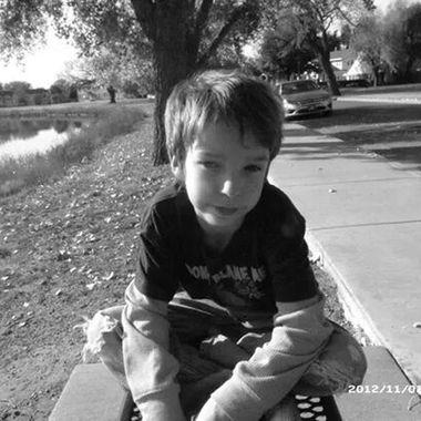 on moms bench at river apt
