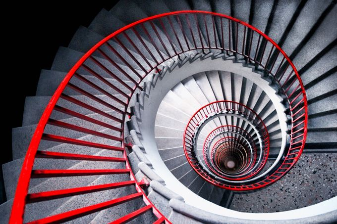 red spiral by Prijaznica - Stairways Photo Contest