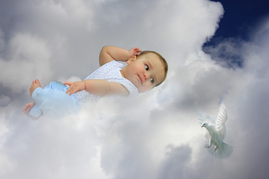 Caleb on the clouds