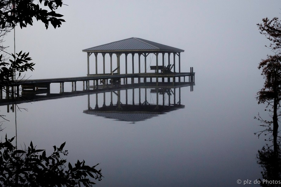 Taken one morning in a heavy fog over Lake Waccamaw, NC