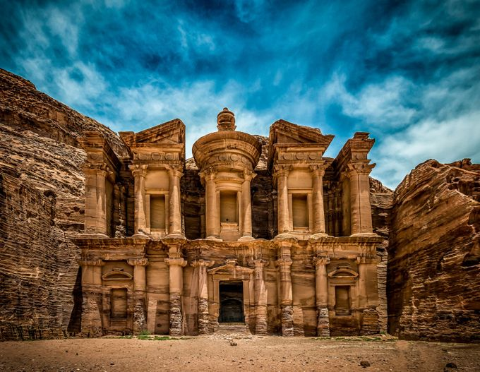 Monastery at Petra by craigboudreaux