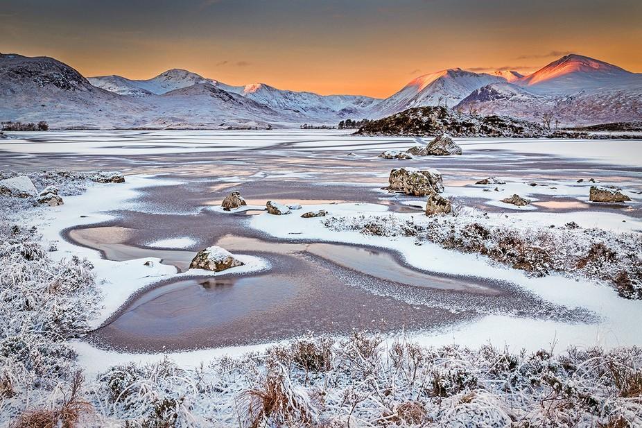 Winter Dawn, Rannoch Moor, Scotland