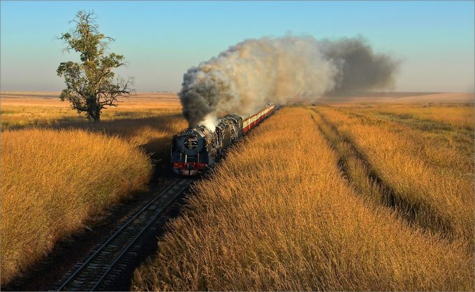 Grassland train  by donaldbrotherston - Your Point Of View Photo Contest