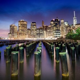 Manhattan skyline from a very popular photo destination in Brooklyn.