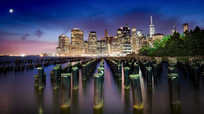 BrooklynBlueHour by RichmoPhoto - City Views Photo Contest