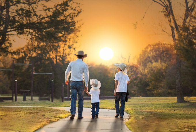 Into The Sunset by DeonG - We Love Our Dads Photo Contest