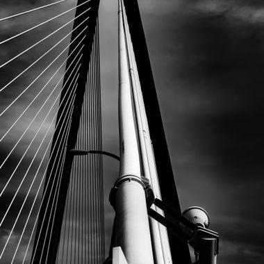 Ravenel Bridge Detail B&W