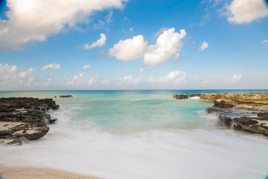 Long Exposure of Smith Cove in the Cayman Islands