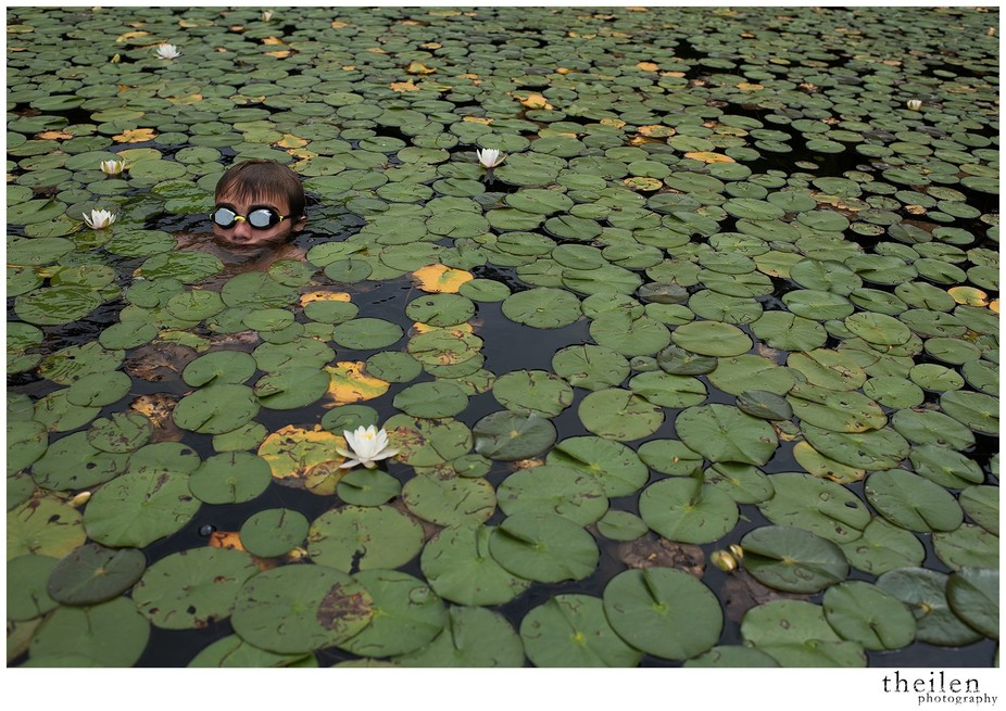 Alex in lilypads