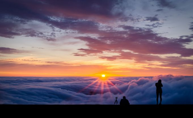 Sunset Above the Fog by BastianHoppe - Standing At The Edge Photo Contest