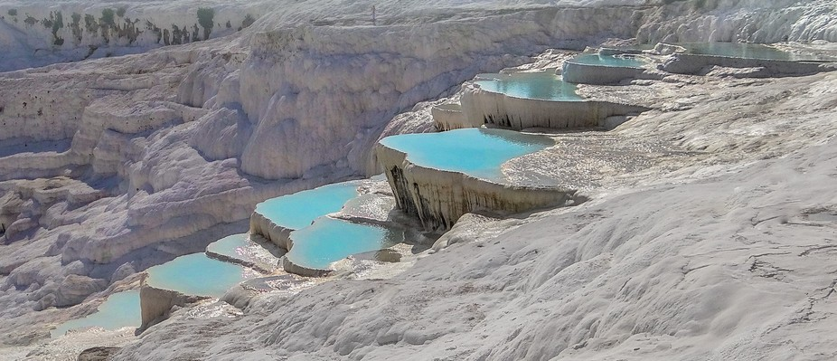 This photo was taken in Pamukkale on travel with my family.
