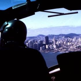 ''1981''Flying Over San Francisco Bay-''Alcatraz''In A U.S.Army Helicopter.''Photo By:Tony Rose...