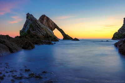 New Year Sunrise at Bow Fiddle Rock