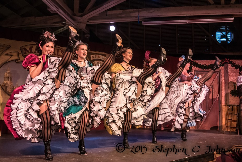 On Stage at the Great Dickens Christmas Fair