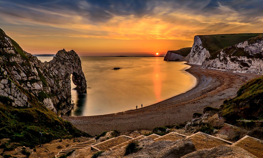 Taken at Dorset, Durdle Door.Like the Sunset and the Colours.