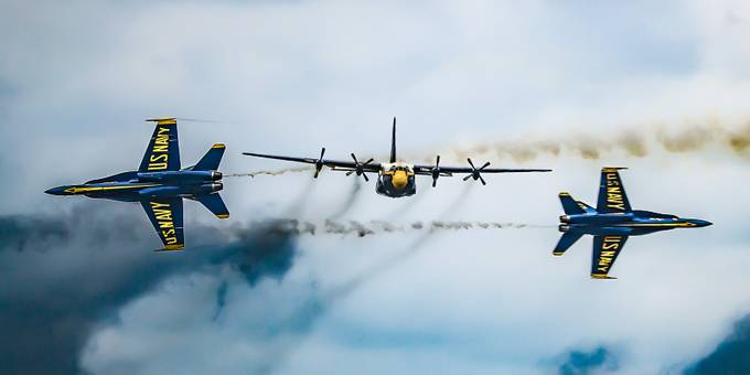 FAT ALBERT AND THE BLUE ANGELS by trauflerphotography - Aircrafts Photo Contest