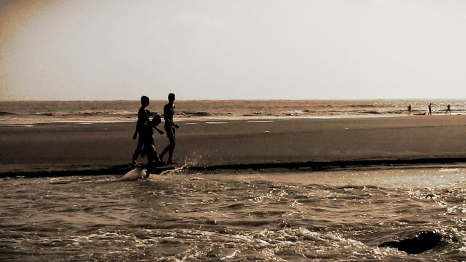 These guys made the best of the afternoon using the Arabian sea as their back drop. Their joy was...