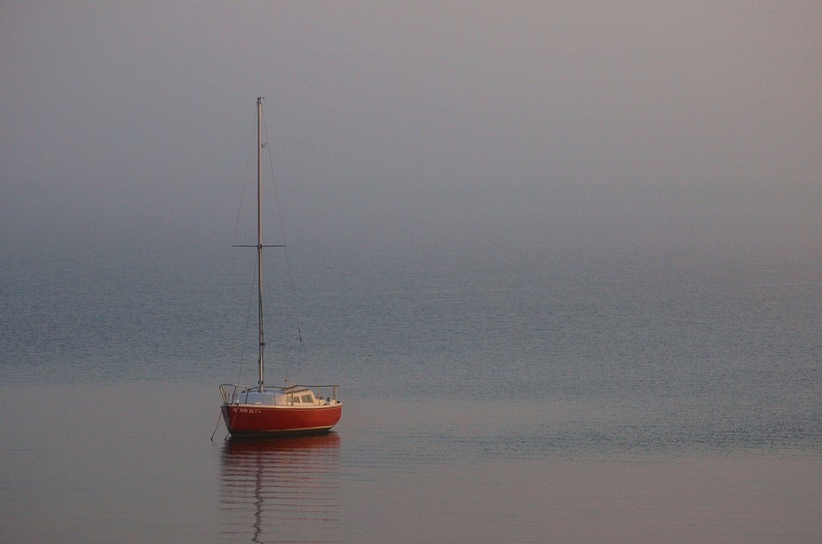 A misty morning on the Indian River Lagoon