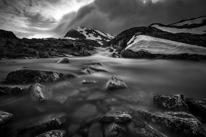 When the snow melts... by peterfoldiak - Landscapes In Black And White Photo Contest