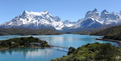 Torres del Paine Mountains and lake