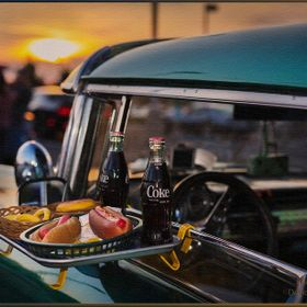 This is what we did in the 1950's-60's.  I NEVER let them put a tray on my own Mustang's, no eating in my cars anyway.